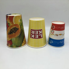 Printed Colorful Cold Drink Paper Cups with Double PE