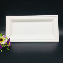 Factory sale food packaging bagasse paper compostable disposable lunch plate