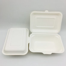 100% Sugarcane Bagasse Biodegradable Disposable Food Box Take Away Lunch Box