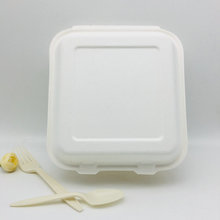 Biodegradable disposable bagasse lunch box