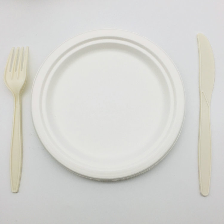 Biodegradable Compostable Bagasse Bowls Recyclable and Leakproof,8 Oz,100 Pack Eco Friendly Sugarcane Dinnerware