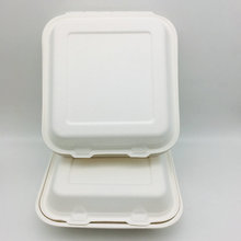 High Quality 100% Biodegradable Bagasse Fast Food Container Box