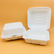 Compostable Food Grade Take Away Paper Pulp Lunch Bio-Box