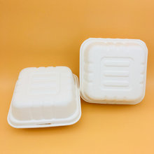 Customized Food Boxes Bagasse Paper Pulp Lunch Box Food Packaging Box