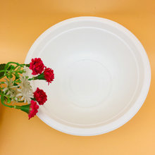 Disposable White Take Away Hot Soup Paper Pulp Bagasse Sugarcane Bowl