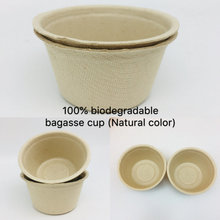 100% biodegradable disposable bagasse sugarcane pulp cup for medical,restaurant,food packing