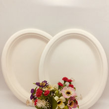 Disposable Oval Paper Plates Cutlery Tray Tableware for Wedding Party Supplies