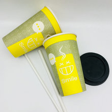 China Disposable Single Wall Coffee Cups Tea Cups Paper Cups with Lids disposable paper cup paper cup with lid