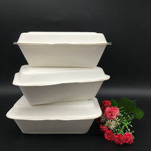 Bagasse Sugarcane Paper Pulp Top Quality OEM Design Biodegradable Lunch Box