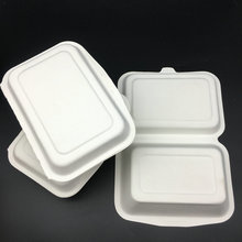 Biodegradable Disposable Bagasse Pulp Lunch Box