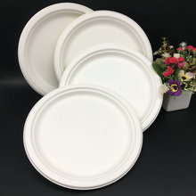Round Bagasse Custom Biodegradable Food Grade Paper Food Plates