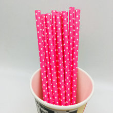 Biodegradable colored Paper Straws For parties supermarket