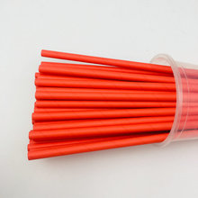 Red Kraft Disposable Paper Biodegradable Drinking Straws