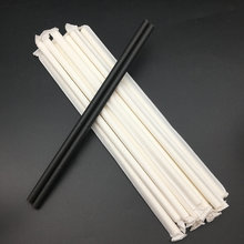 bar accessories eco paper straw with white paper wrapped packaging