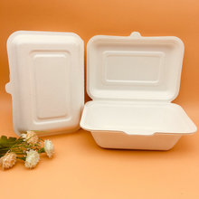 Disposable Surgarcane Material Pulp Lunch Box
