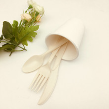 biodegradable cornstarch utensils sets knives spoons forks