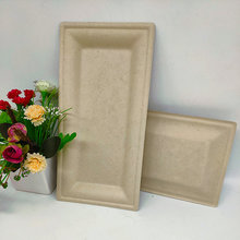 Fancy Customized Tableware Biodegradable Rectangle Plate