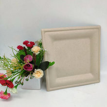 Wholesale Natural Biodegradable 8 Inch Square Plate