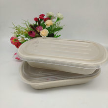 Eco-Friendly Natural Wheat Straw Food Box With PP-lid