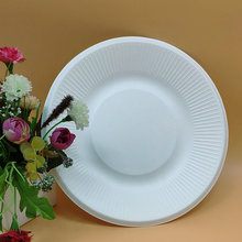 Disposable Wedding Tableware Biodegradable Striped Plates