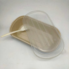 100% Biodegradable Tableware Disposable Box With PP-lid