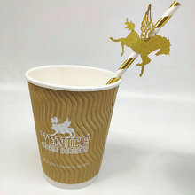 Custom Printed Ripple Wall Hot Cup Takeaway Paper Cups
