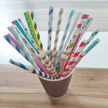 Fancy Paper Drinking Straws Striped Paper Straws for Sorbets