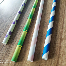 Biodegradable Paper Straws Eco Fancy Striped Paper Straws