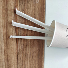 Biodegradable White Paper Drinking Straws With Wrapped