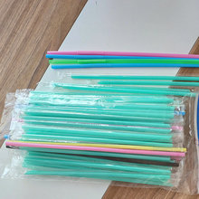 Custom-made Colored Clear PLA Straws Biodegradable Wholesale