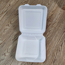 100% Biodegradable Sugarcane Tableware Bento Food Box