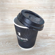 Disposable Paper Coffee cups With Lids Takeaway Paper Cups