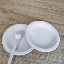 Disposable Party Tableware Cornstarch 6 Inch White Plate