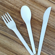 Disposable Flatware PLA White Cutlery Set for Dessert