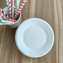 8 Inches Bagasse Plates Striped Paper Party Plate