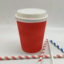 Custom-made Logo Disposable Double wall Paper Coffee Cups