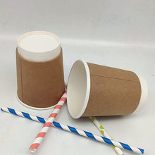Disposable Recyclable Customized Paper Cups Double Wall 8oz