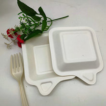 Disposable Leaf Square Relish Dishes Mini Sauce Plate