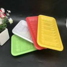 100% degradable tableware compostable multicolor PLA trays
