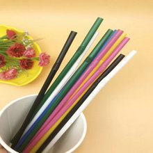 Colorful straws disposable PLA curved straws drinking straws