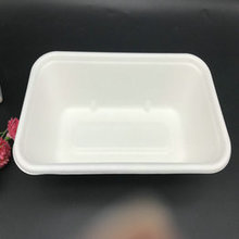 9*5'' 1000ML biodegradable sugarcane pulp food tray