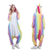 Animal Onesie Carnival Costumes Adult Rainbow Unicorn
