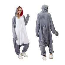 Animal Onesie Halloween Costumes Adult Shark