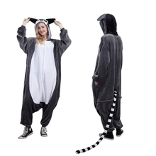 Animal Onesie Animal Pajamas Adult Lemur