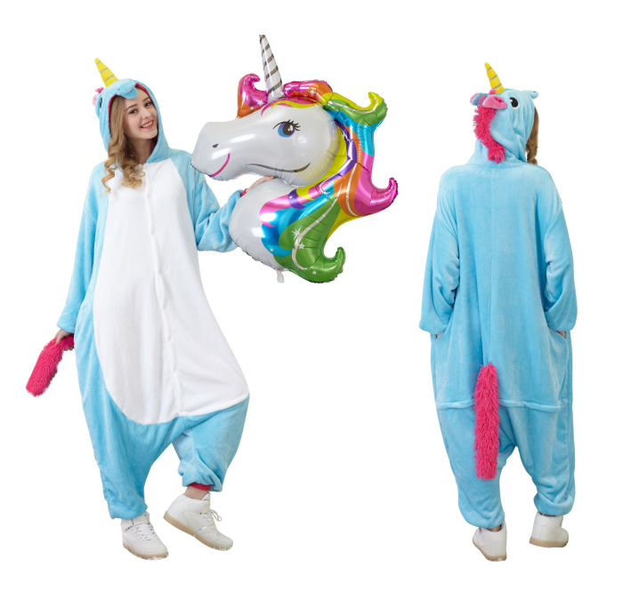 Animal Onesies My Fancy Costumes Adult Teal Unicorn