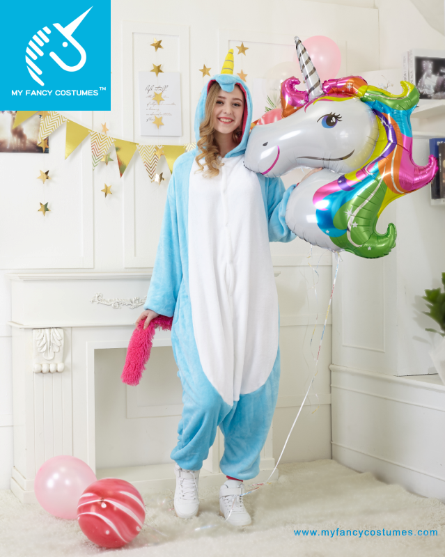 Animal Onesie Teal Unicorn