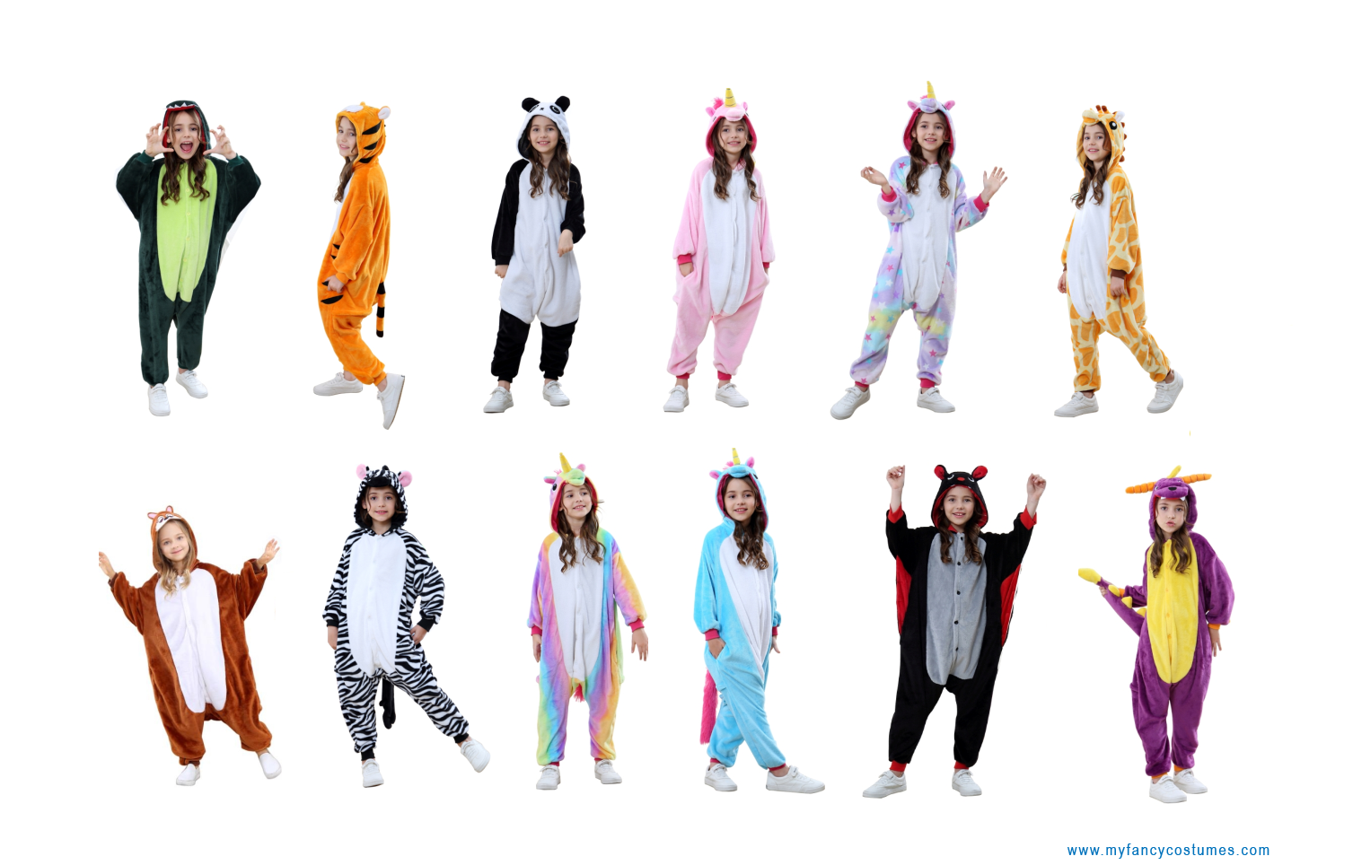 animal onesie, kis costumes, party costumes, carnival costumes