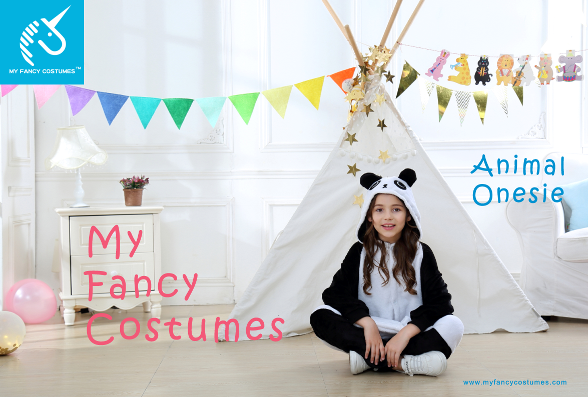 Kids costumes, baby wear, animal cosplay, panda costumes