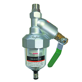 Automatic condensate drainer for air tank or air filter