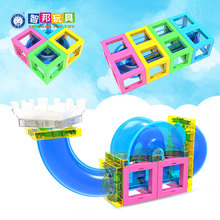 2018 new design Marble Run magnetic blocks with running ball construcation set